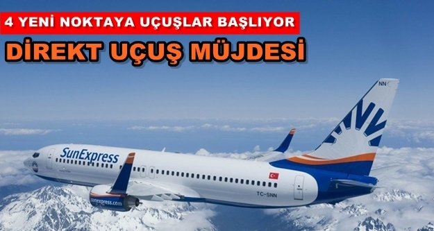 Sunexpress'ten Alanya'ya uçuş müjdesi