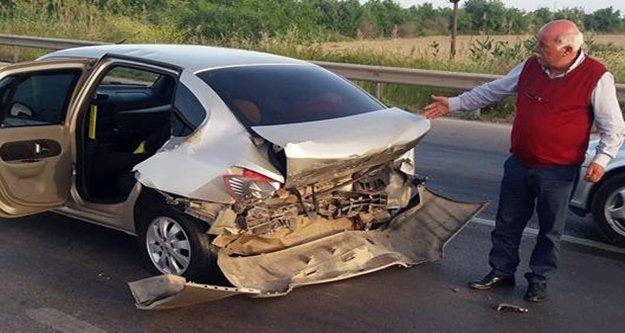 Aksu'da trafik kazası: 1 yaralı
