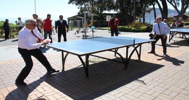 Alanya'da masa tenisi heyecanı