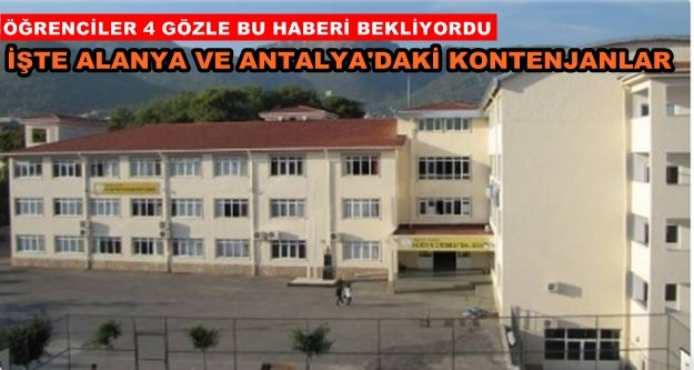 Alanya'da sınavla öğrenci alacak okullar açıklandı
