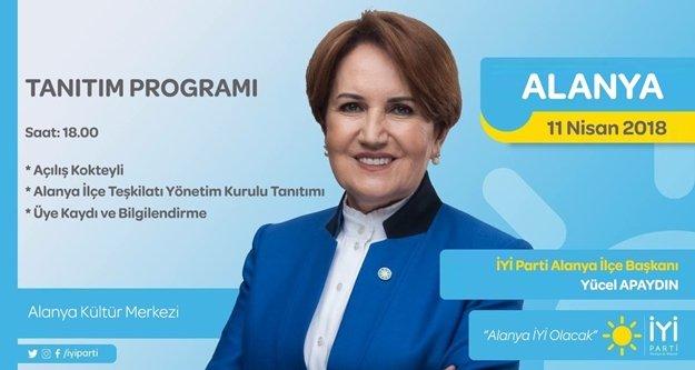 Alanya İYİ Parti yeni yönetimini tanıtacak