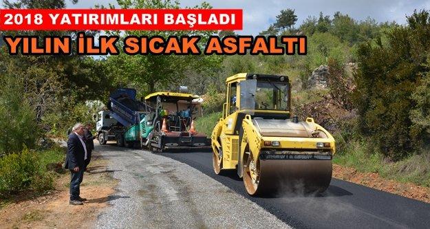 Alanya'da sıcak asfalt çalışmaları