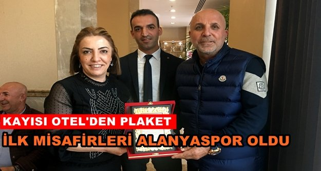Alanyaspor'a 'ilk misafir' plaketi