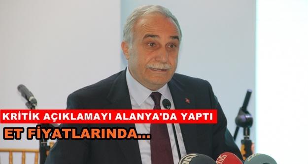 Bakan Fakıbaba'dan et fiyatı ile ilgili açıklama