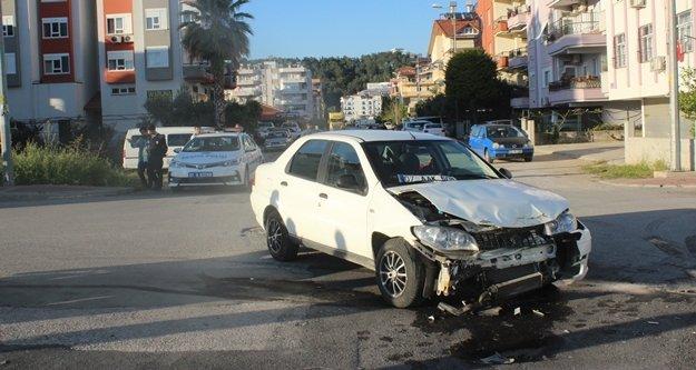 Komşuda kaza ucuz atlatıldı