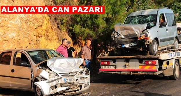 Alanya'da feci kaza: 1'i ağır 5 yaralı var