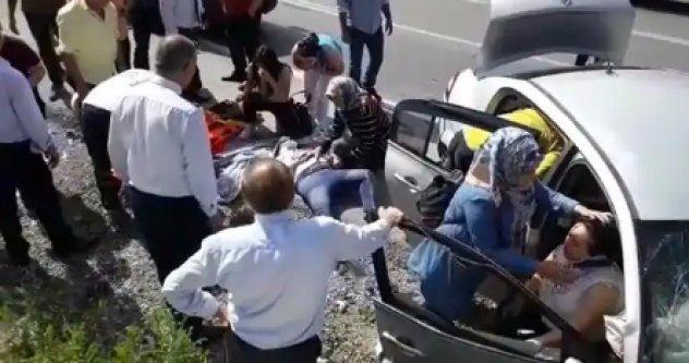 Alanya'ya gelen araç kaza yaptı: 6 yaralı var