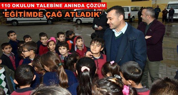 Başkan Yücel'den 4 yılda eğitime büyük destek