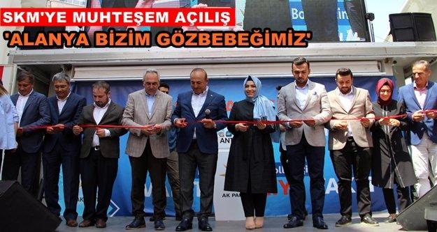 Çavuşoğlu Alanya'da Ak Parti'ye start verdi