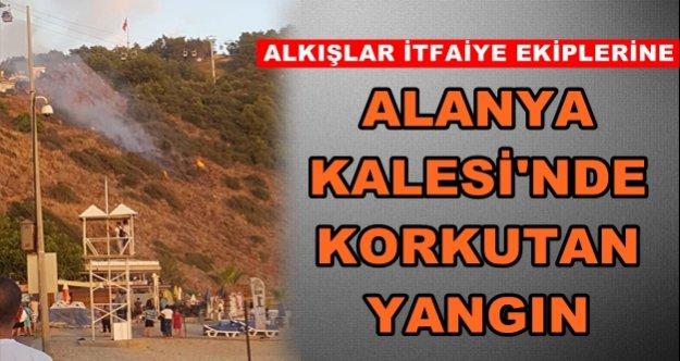 Alanya'da korku! Tarihi Kale'de yangın