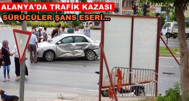 Alanya'daki kaza ucuz atlatıldı