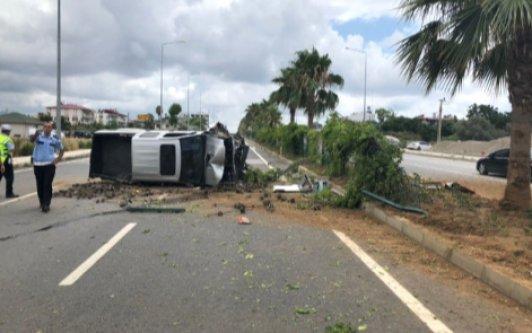 Alanya Gazipaşa yolunda kaza: 4 yaralı var