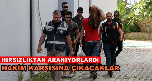 Alanya'da 1'i kadın 5 şüpheli yakalandı