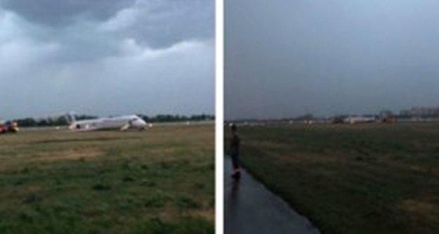 Antalya uçağı pistten çıktı!