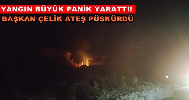 Gazipaşa Mesire Alanı'nda yangın!