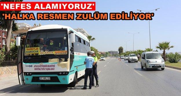 Mahmutlar otobüsleri isyan ettirdi!