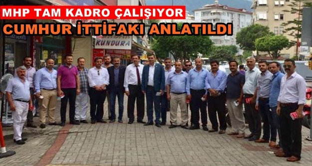 MHP esnaf ziyaretlerine devam ediyor