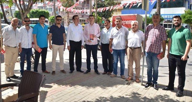 MHP esnaf ziyaretlerini sürdürüyor