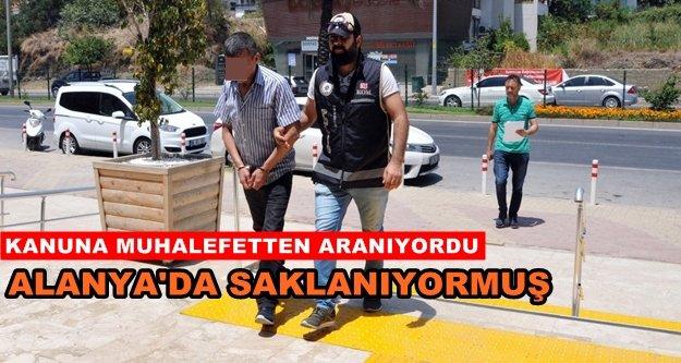 10 yıl hapis cezası bulunan şahıs Alanya'da yakalandı