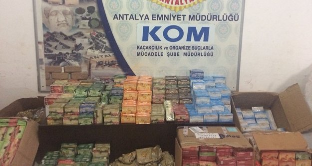 281 kilo kaçak nargile tütünü ele geçirildi