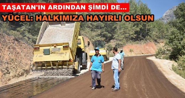 Alanya Belediyesi asfalta devam ediyor