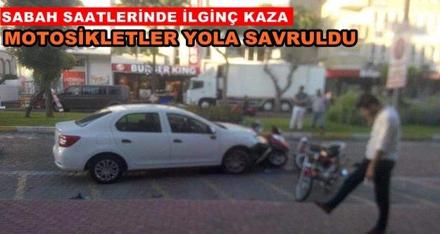 Alanya'da kaza! 6 motosiklet paramparça oldu