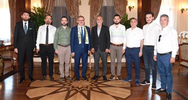 Alanyaspor Yönetim Kurulu'ndan Karaloğlu'na ziyaret
