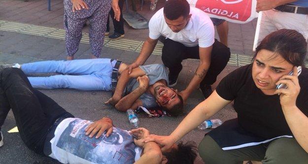 Kasksız gençler ölümden döndü, esnaf yardım için seferber oldu