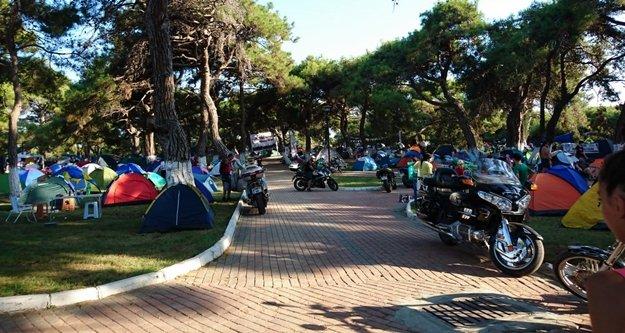 Motosiklet camiası Manavgat'a aktı