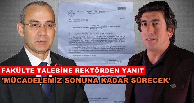 Rektör Pınarbaşı'dan muhtara yanıt geldi