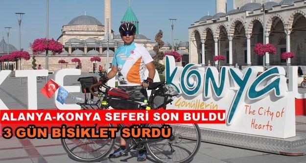 Sultan Alaaddin'i anmak için bisikletle Konya'ya geldi
