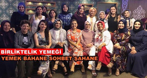 Ak Partili kadınlar yemekte buluştular