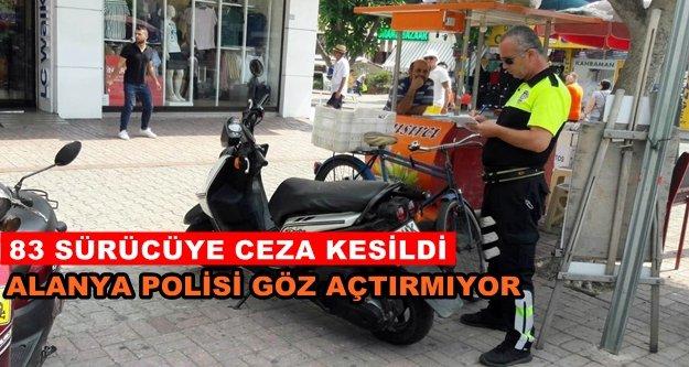 Alanya'da polisten motosiklet denetimi