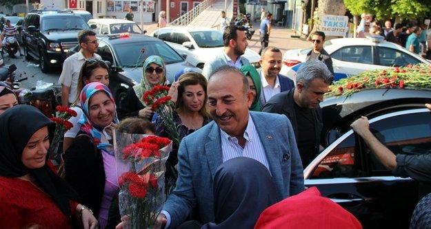 Bakan Çavuşoğlu Alanya'da konuştu: Türk milleti tehdide boyun eğmez