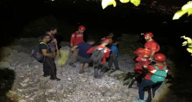 Alanya'da kayıp dağcıları kurtarma seferberliği