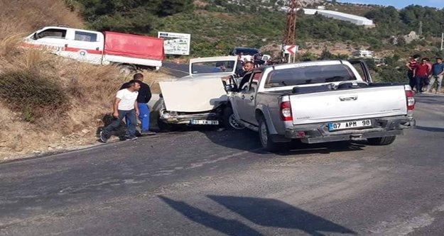 Mahmutlar'da kaza: 4 yaralı