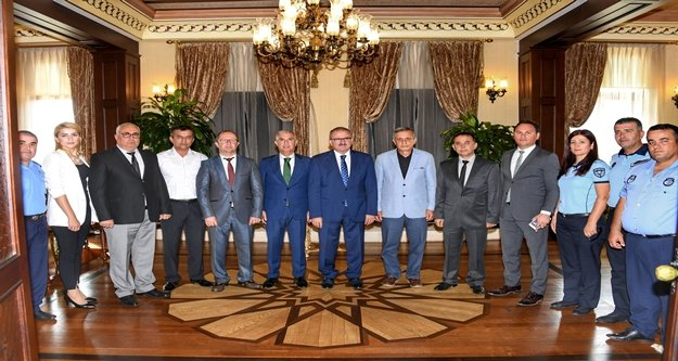 Zabıta ekiplerinden Vali Karaloğlu'na ziyaret