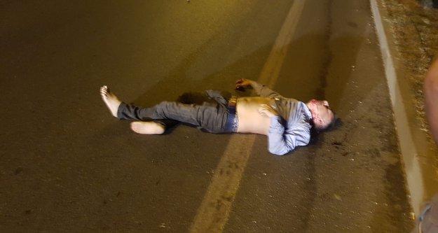 Alanya'da feci kaza, yaya böyle çarpıldı