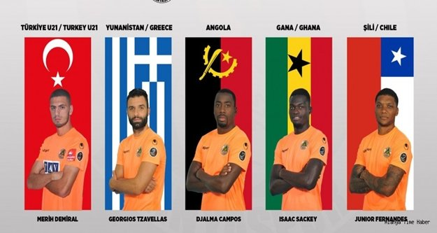 Alanyasporlu 5 futbolcuya milli davet
