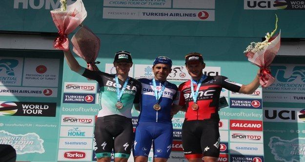 Cumhurbaşkanlığı Bisiklet Turu'nun ilk etabı tamamlandı