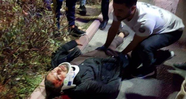 Alanya'da motor sürücüsü ağır yaralandı