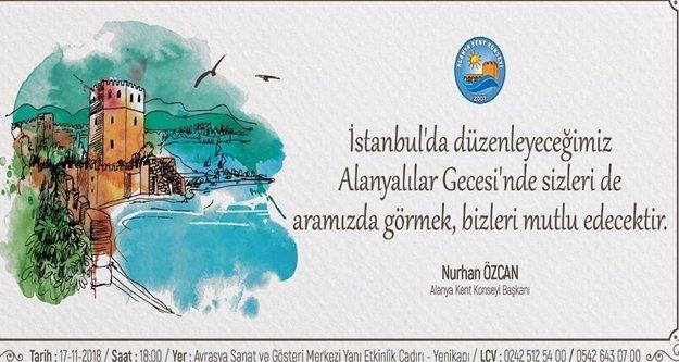 İstanbul'da 'Alanyalılar Gecesi' düzenlenecek