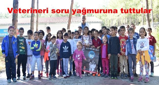 Öğrenciler Demirtaş Hayvan Evi ve Rehabilitasyon Merkezi'ni gezdi