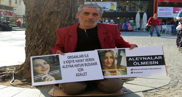 Organlarıyla 8 kişiye umut olan Aleyna'nın babası oturma eylemi yaparak adalet istedi