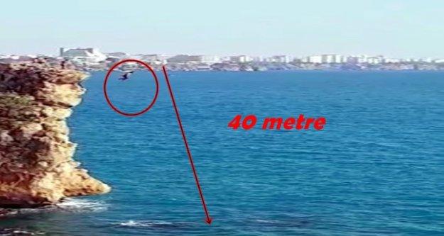 40 metre yüksekten ölüm atlayışı