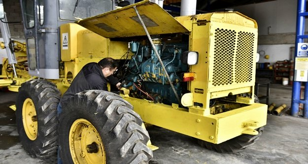 4 yılda 4 bin 309 aracın bakım ve onarımı yapıldı