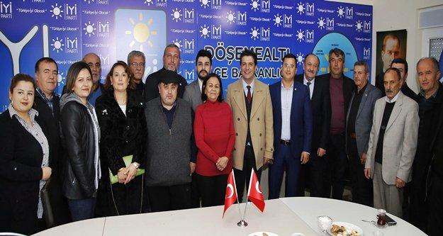 Başkandan CHP ve İYİ Parti ziyareti