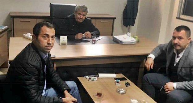 Durusoy ve Yazar'dan Basar'a ziyaret
