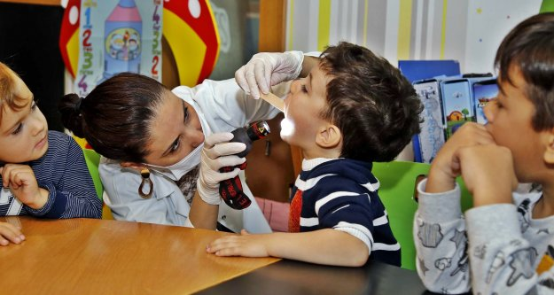 Ekolojik Kreş'te diş sağlığı eğitimi