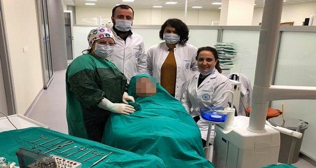 ALKÜ'deki başarılı diş operasyonuyla sağlığına kavuştu